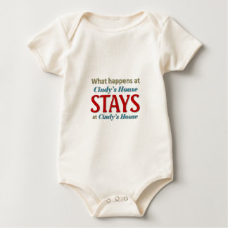 What happens at Cindy's house Baby Bodysuit