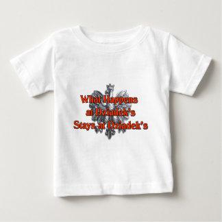 What happens at Dziadek's Stays at Dziadek's Baby T-Shirt