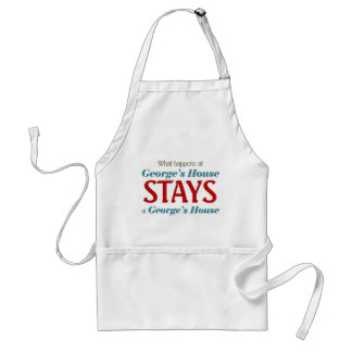 What happens at George's house Adult Apron