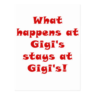 What Happens at Gigis Stays at Gigis Post Cards