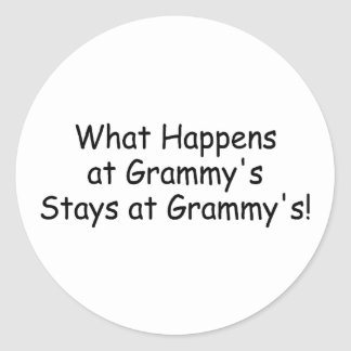 What Happens At Grammy Black Classic Round Sticker