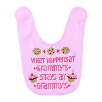 What happens at Grammy's Baby girl bib