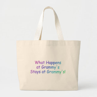 What Happens At Grammys Multi Colored Jumbo Tote Bag