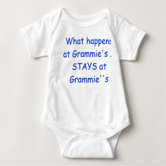 What happens at Grammy's .. STAYS at Grammy's Baby Bodysuit