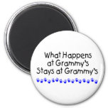 What Happens At Grammys With Blue Handprints Refrigerator Magnets