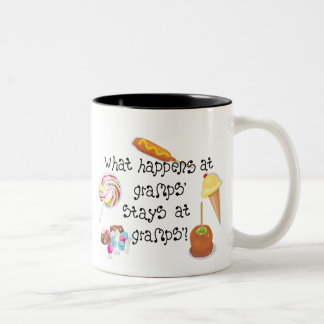 What Happens at Gramps' STAYS at Gramps' Two-Tone Coffee Mug