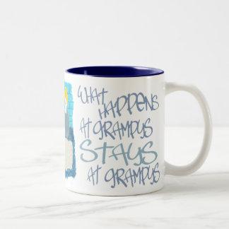 What Happens At Grampys Two-Tone Coffee Mug