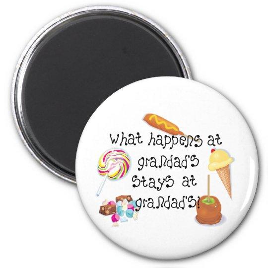 What Happens at Grandad's STAYS at Grandad&ap Magnet
