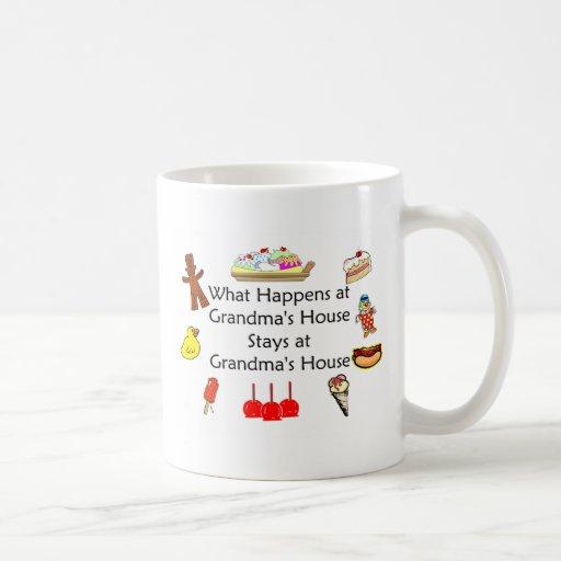 What Happens at Grandma's Classic White Coffee Mug