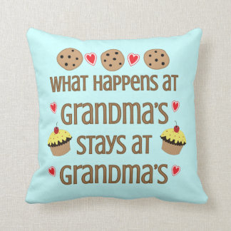 What happens at Grandma's Decorative Throw Pillow
