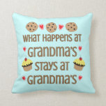 What happens at Grandma's Decorative Throw Pillow