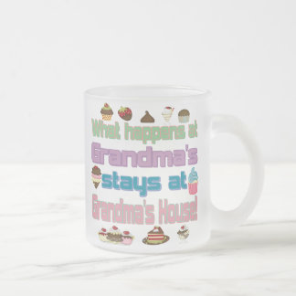 What happens at Grandmas Frosted Glass Coffee Mug