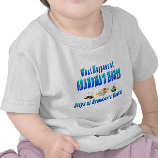 What Happens At Grandmas House Blue Tee Shirts