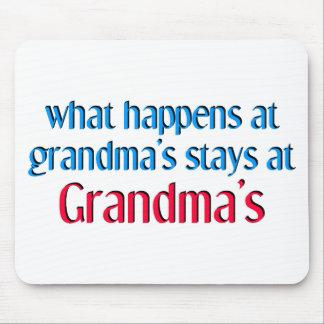 What happens at Grandma's Mouse Pad