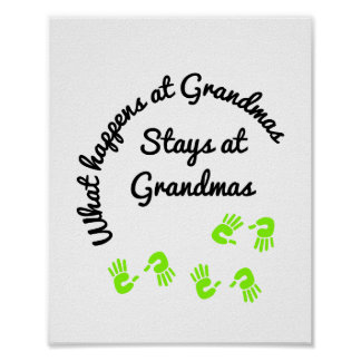 What Happens At  Grandmas Poster
