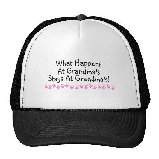 What Happens At Grandmas Stays At Grandmas Mesh Hat