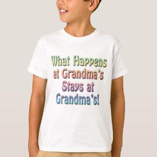 What Happens at Grandma's Stays at Grandma's Funny T-Shirt