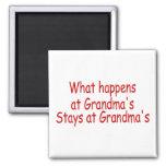 What Happens At Grandma's Stays At Grandma's Refrigerator Magnets