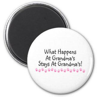 What Happens At Grandmas Stays At Grandmas Magnet