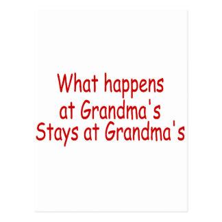 What Happens At Grandma's Stays At Grandma's Post Cards
