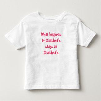 What happens at Grandma's stays at Grandma's Toddler T-shirt