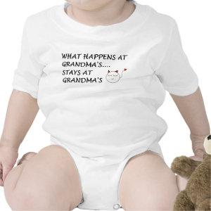 WHAT HAPPENS AT GRANDMAS...STAYS AT GRANDMAS! shirt