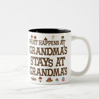 What happens at Grandmas Two-Tone Coffee Mug