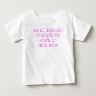 What Happens At Grandpa's Baby T-Shirt