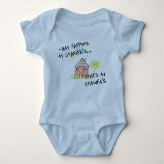 What Happens At Grandpa's Sleeper Baby Bodysuit