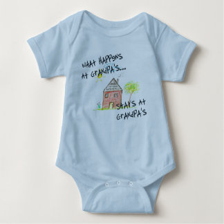 What Happens At Grandpa's Sleeper T-shirt