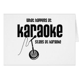 What Happens at Karaoke Greeting Card