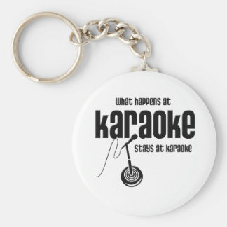 What Happens at Karaoke Keychain