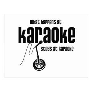 What Happens at Karaoke Postcard