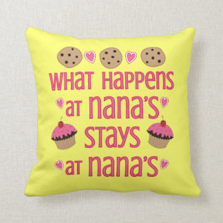 What happens at Nana's Decorative Throw Pillow