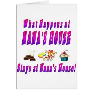 What Happens At Nanas House Pink Card