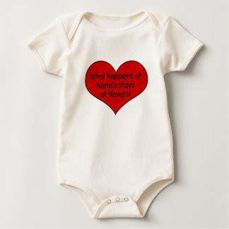What happens at Nana's stays Baby Bodysuit