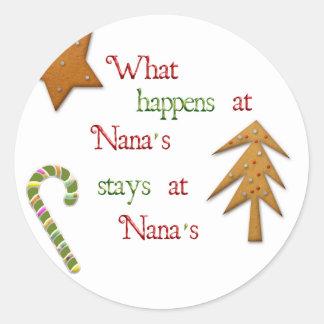 What Happens At Nanas Sticker