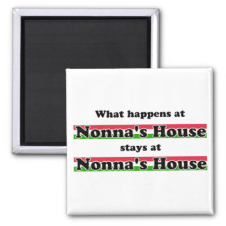 What Happens At Nonna's House 2 Inch Square Magnet
