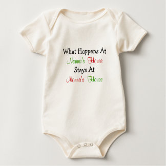 What Happens At Nonna's House Baby Apparel Bodysuit