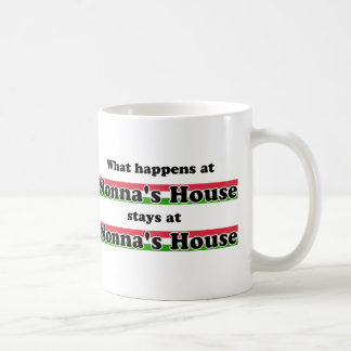 What Happens At Nonna's House Classic White Coffee Mug