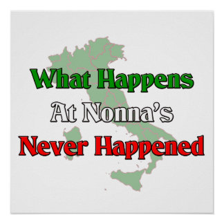 What happens at Nonna's never happened Poster