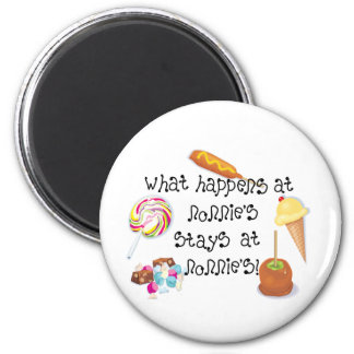 What Happens at Nonnie's STAYS at Nonnie&apos 2 Inch Round Magnet
