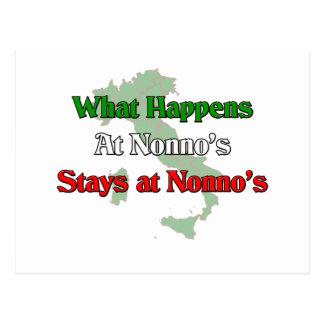 What happens at Nonno's stays at Nonno's Postcard