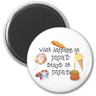 What Happens at Papa's STAYS at Papa's! 2 Inch Round Magnet