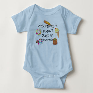 What Happens at PawPaw's STAYS at PawPaw's Baby Bodysuit