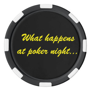 What Happens At Poker Night Stays At Poker Night Poker Chips Set at Zazzle