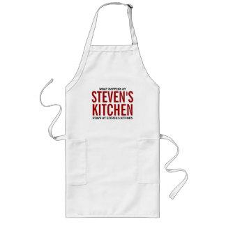 What Happens at Steven's Kitchen Long Apron