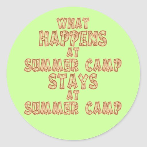 What Happens at Summer Camp Sticker