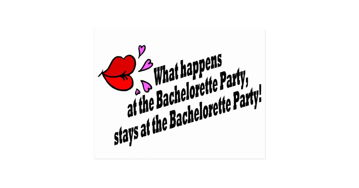 What Happens At The Bachelorette Party... Postcard