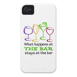 What Happens At The Bar Stays iPhone 4 Cover